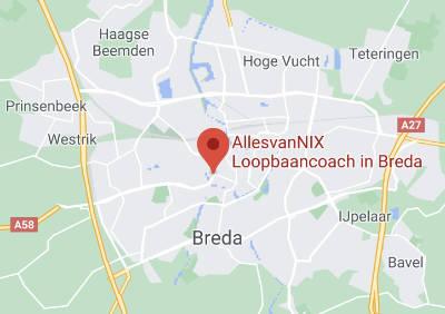 Locatie van AllesvanNIX loopbaancoaching in Breda